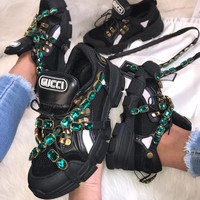 Gucci Flashtrek Sneaker With Crystals 5 Colors-6
