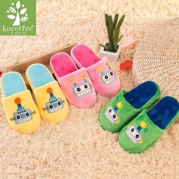 Winter kids slippers boys girls slippers children warm soft sole boys girls shoes kid cute cartoon cotton slippers high quality