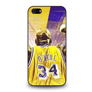 SHAQUILLE O'NEAL LA LAKERS iPhone 5 / 5S / SE Case Cover