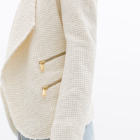 STRUCTURED JACKET WITH ZIPS