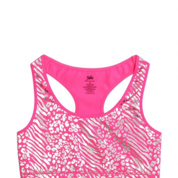 Animal Foil Racerback Sports Bra