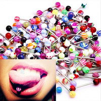 30 Fashion.Surgical Steel MIXED Tongue Tounge Rings BARS PIERCING JEWELRY Barbell Tongue Piercing Body Jewelry Barbells