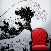 Vinyl Wall Decal Sticker Japanese Great Wave Hokusai #363