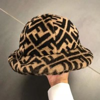FENDI Autumn Winter Popular Women Men Warm Fisherman Hat Cap