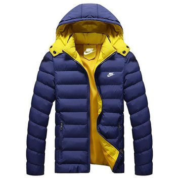 Nike Women Men Fashion Casual Hooded Cardigan Jacket Coat Windbreaker-2