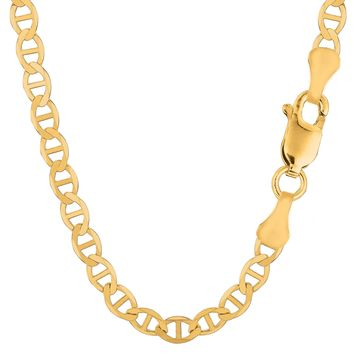 14k Yellow Gold Mariner Link Chain Necklace - 6.0 mm