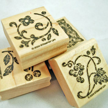 Stampin Up Stamp Set - Rubber Stamps - Stippled Stencils - Retired, Never Used, Mint Condition Scrapbooking Crafts Cardmaking