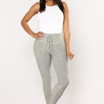 Yesenia High Rise Leggings - Heather Grey