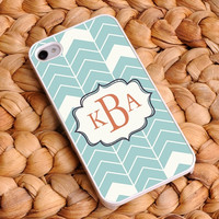 Personalized Chevron iphone covers - Sea Mist 4