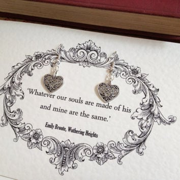Wuthering Heights Heart Earrings
