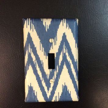 Chevron Light Switch Cover, Chevron Switchplate, Chevron Bedroom Decor