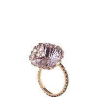 One of a Kind 18K Rose Gold Ring with Pink Amethyst