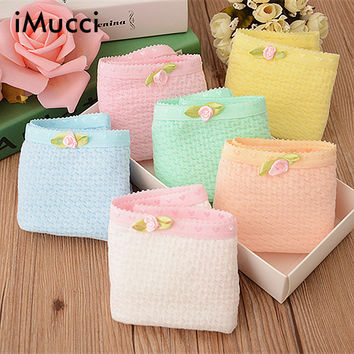 iMucci Lovely Bubble Cotton Briefs Panties  Soft Bubble Candy Color Underwear Women Sexy Underwear Cute Bow Women's Panties