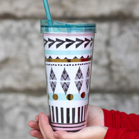 Boho Patterned Tumbler {22 oz}
