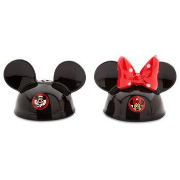 disney parks salt and pepper shakers mickey and minnie ear hat new with box