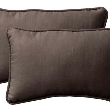 2 Chocolate Brown Throw Pillows - Mildew, Weather And Fade Resistant