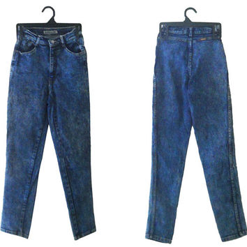 80s Skinny Jean 80s High Waist Jean High Waste Jean Acid Wash Jean High Wasted Jean Stone Wash Jean 80s Jeans High Waist Pants Tapered Pants