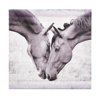 Canoodling Horses Canvas Tapestry