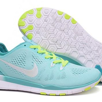 Women's Training Shoes: Nike Free TR FIT 5 Brthe Teal/White