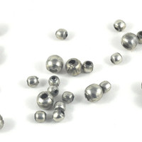 Loose Metal Silver Round Ball Beads - Spacer Beads - Jewellery Costume & Craft Supplies - Available in in quantity of 50 - 6mm or 4mm