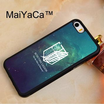 Cool Attack on Titan MaiYaCa  Wing Of Liberty Soft TPU Phone Case For iPhone 5 5s Rubber Back Cover For iPhone SE Phone Bag Case Cover AT_90_11