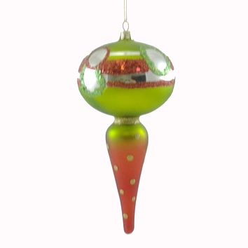 Holiday Ornament Icicle Ornament Colorful Glass Ornament