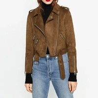 high velocity suede moto jacket