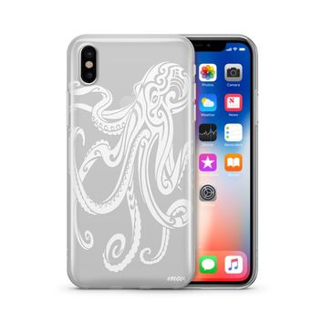 Henna Octopus - Clear TPU Case Cover