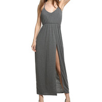 Women's Summer Side Split Maxi Dress