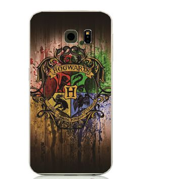 Wooden Harry potter design cover phone cases For Samsung Galaxy s7edge s6edge G9300 S3 S4 S5 S6 S7 Edge G9350