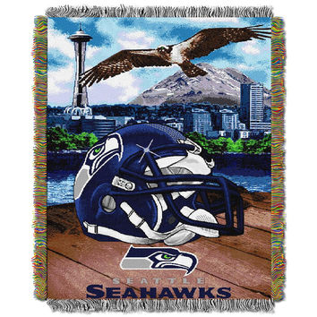 Seattle Seahawks NFL Woven Tapestry Throw (Home Field Advantage) (48x60)