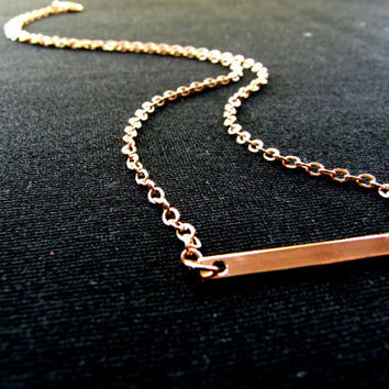 Gold Bar Necklace, Vertical Bar Necklace, Thin Bar Necklace, Layering Necklace, Silver Bar Necklace, Long Necklace, FREE SHIPPING