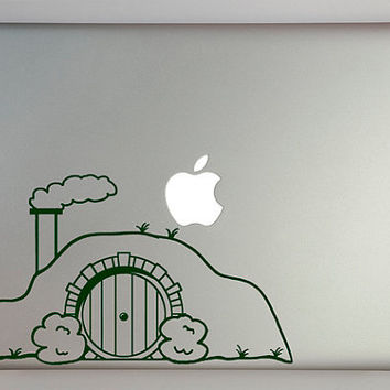 Hobbit House Decal Macbook Laptop by overlyattacheddecals on Etsy