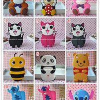 3D Cute Cartoon Mickey Bear For Apple iPod Touch4 4th Rubber Silicone Case Cover