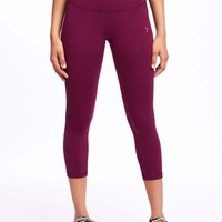 Go-Dry High-Rise Compression Crops | Old Navy