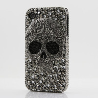 Swarovski Crystal Bling Phone Case  Skull Statement by GlitzedOut
