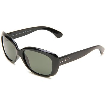 Ray-Ban 0RB4101 Square Sunglasses,Black Frame/Lens:Polarized Gray-Green Lens,One Size