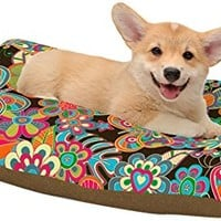 "Kess InHouse Julia Grifol ""My Butterflies and Flowers"" Dog Bed, 18 by 28"""