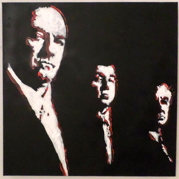 The Sopranos TV Show Pop Art - 36x36 - Acrylic Painting - Urban Decor - Modern Decor - Wall Art - Dorm Room Teen Room Man Cave Decor