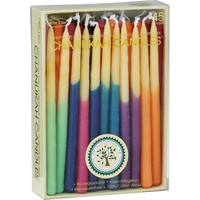 Multi-Color Hand-Dipped Beeswax Hanukkah Candles from Rite Lite