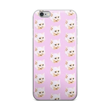 Cat Head Collage Animal Teen Cute Girly Girls Pretty Pink Cat Lover iPhone 4 4s 5 5s 5C 6 6s 6 Plus 6s Plus 7 & 7 Plus Case