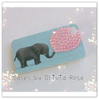 Elephant Blowing Pink Bubble Case by CasesbyOliviaRose on Etsy