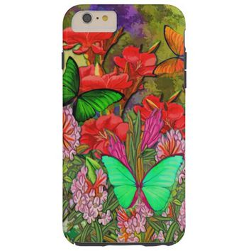 bright floral colored butterfly design tough iPhone 6 plus case