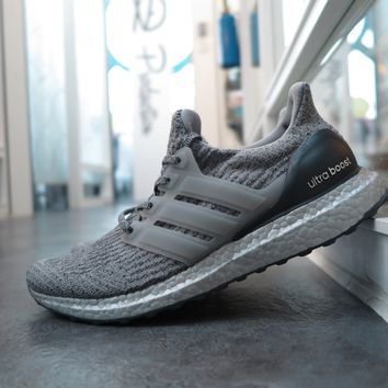 BC HCXX adidas Ultra Boost 3.0  Superbowl Edition - Silver Pack  - Medium Grey Heather Solid Grey/Dark Grey Heather Solid Grey #BA8143