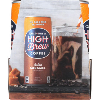 High Brew Coffee Coffee - Ready To Drink - Salted Caramel - 4-8 Oz - Case Of 6