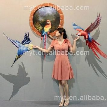 Modern 3D Birds Painting  Handmade Abstract New Oil Painting on Canvas Wall Pictures Home Decoration no Framed Canvas Art