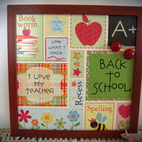 Teacher Themed 12x12'' Magnetic Board