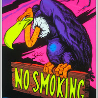 No Smoking Black Light Poster