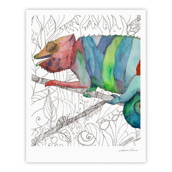 "Catherine Holcombe ""Chameleon Fail"" Fine Art Gallery Print"