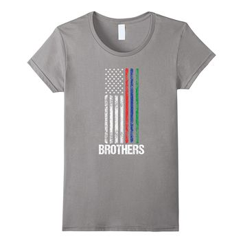 Thin Red Blue Green Line Clothing Brothers American Flag